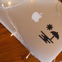 Decal Sticker Macbook Stiker Minimalis Pemandangan Pantai Laptop