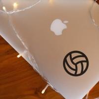 Decal Sticker Macbook Apple Stiker Bola Voli Volleyball Laptop