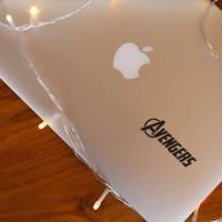 Decal Sticker Macbook Apple Stiker Logo Avengers Marvel Shileld Laptop