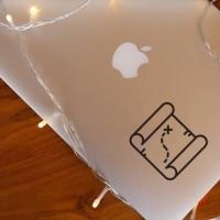 Decal Sticker Macbook Apple Stiker Peta Harta Karun Laptop