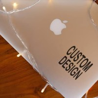 Decal Sticker Macbook Stiker CUSTOM DESIGN desain Laptop 10-14cm
