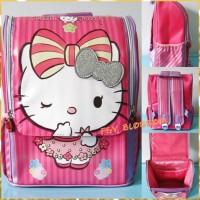 Tas Sekolah Anak Tas Ransel Backpack TK Jepang 3D HELLO KITTY PINK