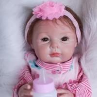 Boneka Reborn Flower Headband / Boneka Mirip Bayi NPK