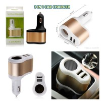 Batok saver Charger Mobil 2 Usb 2.1A Fast Charging + Lighter Mobil