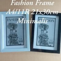 Bingkai/Frame Foto A4/11R 21x30 Minimalis Hitam &Putih