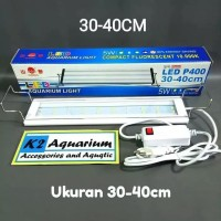 DISKON LAMPU LED Yamano p400 30-40cm putih biru aquarium aquascape