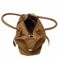 "tas kulit wanita new- tas kulit asli pull up coklat muds"""