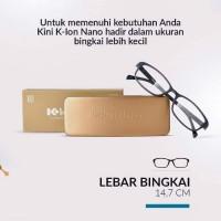 Kacamata K-Ion Nano kacamata Terapi K ion Warna Black BINGKAI TIPIS