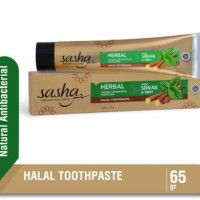 Sasha Pasta Gigi Siwak & Sirih 65 gram Natural Anti Bacterial