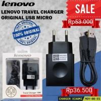 Charger Lenovo C-P32 Output 2A with Micro USB Cable Original 100% - Hitam
