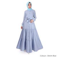 Gamis Wanita Original | Deanova Maxi |Dress Denim Blue Supernova