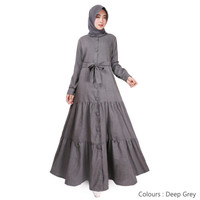 Gamis Muslim Original | Deanova Maxi | Deep Grey Supernova