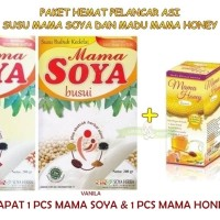 PMS136 PAKET HEMAT PELANCAR ASI SUSU MAMA SOYA DAN MADU MAMA HONEY