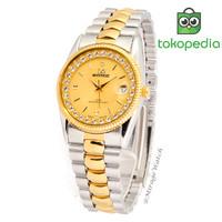 Jam tangan wanita mirage permata rx 1579M kombinasi pK