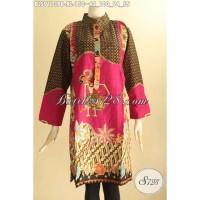 Batik Blouse Wanita Dewasa Lengan 7/8 Motif Mewah Size XL BLS9113PB