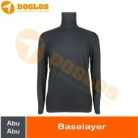 Baselayer Hangat Kaos Outdoor Gunung Warm Stretch Cotton Abu