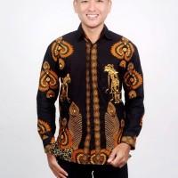 Kemeja Batik Pria Lengan Panjang Motif Jokowi
