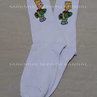 Kaos Kaki Old School / Old Skool Motif Simpson
