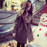 coat wool / baju hoodie jaket / outer army / luaran korea style