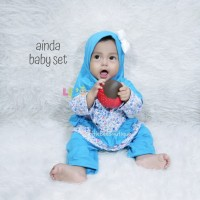 Ainda Baby Set - Baju Muslim Balita - Setelan Baju Blouse Sz S 0-4bln