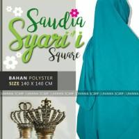 Grosir hijab jilbab segi 4 saudia polos jumbo umama