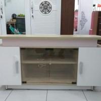 Bufet tv ukr.120x40x60 (bahan softboard) pilihan wrna hitam dan cream