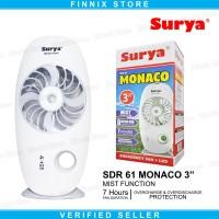 SURYA SDR 61 MONACO Mini Fan Kipas Angin Portable With Mist Cooler