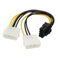 KABEL POWER VGA / ADAPTER 2 MOLEX TO 8 PIN / 8PIN PCIE / PCI-E