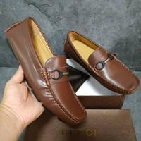 Sepatu pria gucci loafers kulit asli