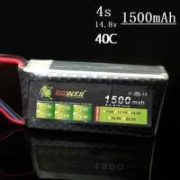 Lipo baterai 14.8V 1500mAh 4S 40C Lipo Battery XT6 Baterai RC Drone