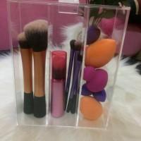 tempat brush acrylic/kuas makeup/rak kosmetik akrilik/pensil alis