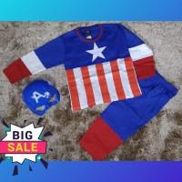 baju setelan anak 2-10thn atasan +celana superhero captain amerika