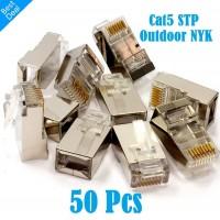 Konektor Rj45 STP Cat5 Outdoor Metal Pin Gold Plated