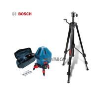 Bosch GLL 5-50 X Kit + Tripod Set Laser Garis / Line Level