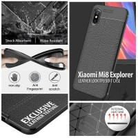 Xiaomi Mi 8 Explorer - Mi8 Explorer - Leather Look TPU Soft Case
