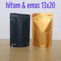 kemasan kopi standing pouch alumunium foil kemasan keripik 13x20cm