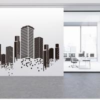 Wall Stiker Bangunan Gedung Hiasan Dinding Sticker Kaca Quotes Office