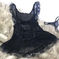CARLA PREMIUM Sexy Lingerie French Maid Costume Cosplay Pelayan Hitam