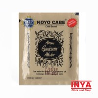 Koyo CABE CHILLI BRAND Pack isi 10 Pieces - Muscle Medicated Patch
