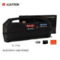 Speaker ASATRON R-1715 Bluetooth USB FM Radio BIG BASS