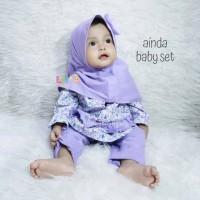 Ainda Baby Set - Baju Muslim Balita - Busana Pesta New BornSz M 5-8bln