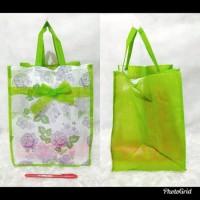TAS Kain SPUNBOND Tenteng PITA Tipis 22X22 Souvenir Goodie Bag