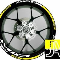 stiker velg motor wheels sticker Yamaha Mio 125 ring 14