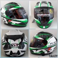 KYT R10 #2 white/black/green fluo