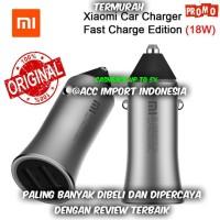 Xiaomi Mi Car Mobil Fast Charger Charging Dual USB Silver Original
