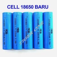 Cell Baterai Lithium Ion BAru 18650 3.6V, 3.7V merk MDB