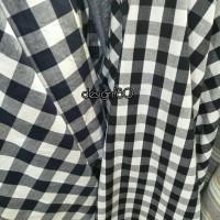 kain oxford motif kotak kotak/bahan dress, gamis, blouse oxford
