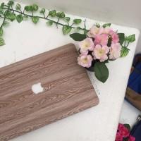 Macbook New Air 13 Inch cover hard case skin Print wood kayu