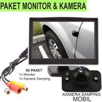 Paket Kamera Samping Mobil dengan Layar 5 inc Mantab