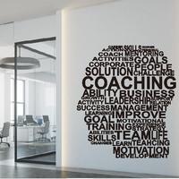 Wall Stiker Coaching Kepala Hiasan Dinding Sticker Kaca Quotes Office